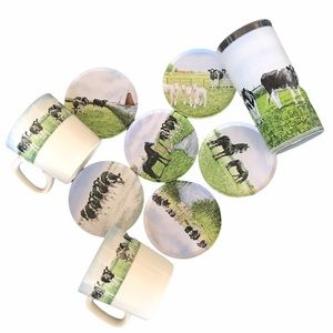 Wiebe Van Der Zee Farm Theme Coasters and Cups